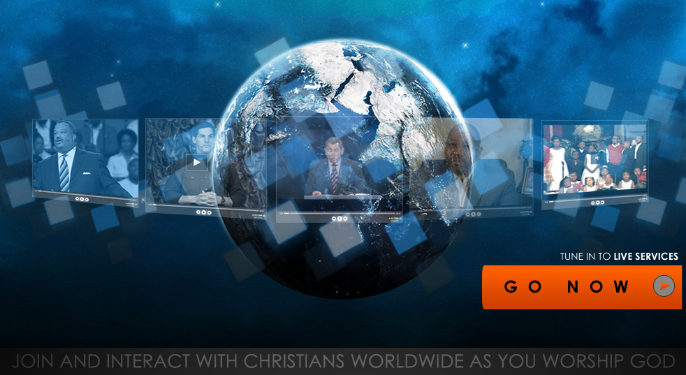 Tune in to live church services on the internet.